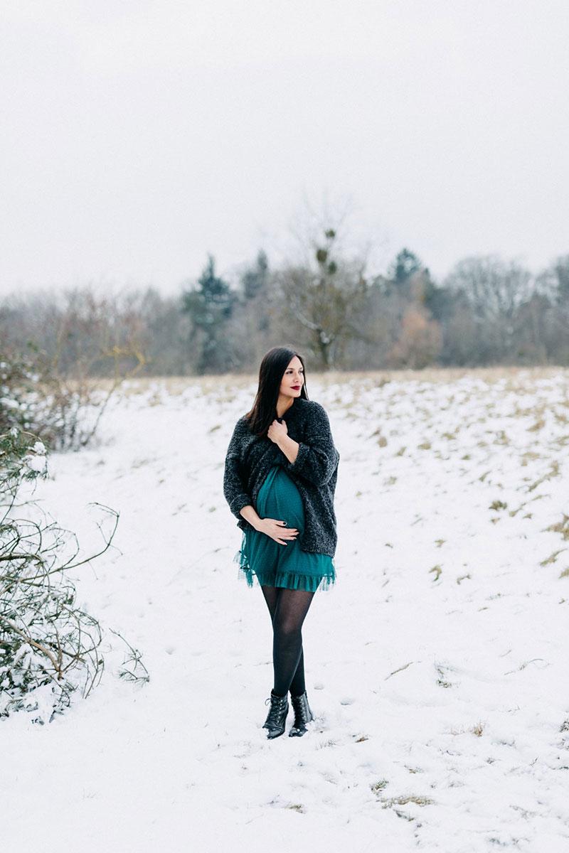 Schwangere beim Babybauchshooting in Heilbronn