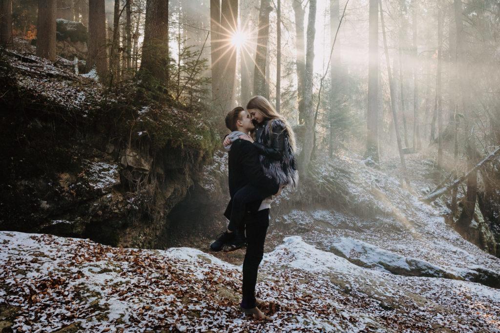 Paarshooting im winterlichen Allgäu