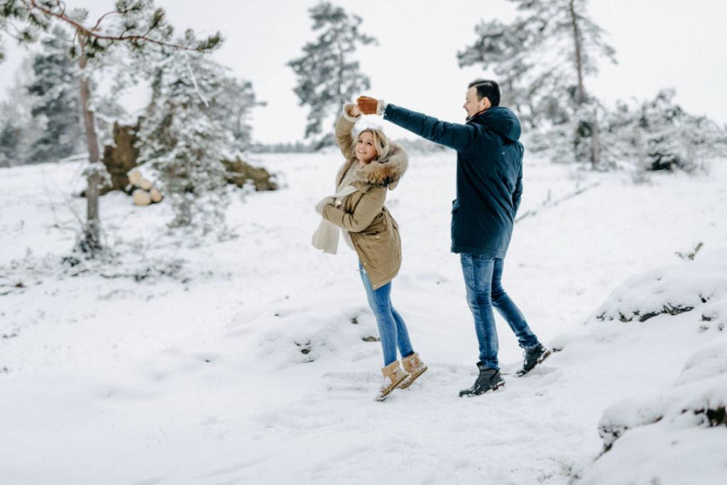 Paarshooting im Schnee