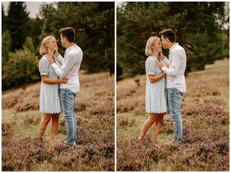 Verlobungsshooting mit lila Wolken in Heidenheim